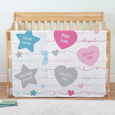 Swirl Name Baby Blanket