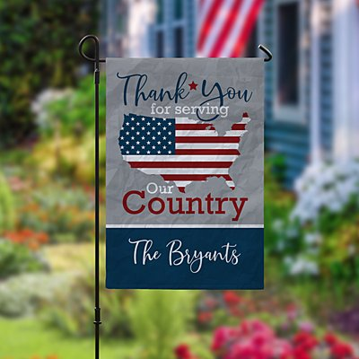 Thank You Patriotic Garden Flag