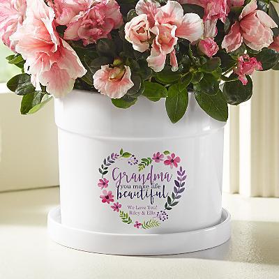 You Make Life Beautiful Flower Pot