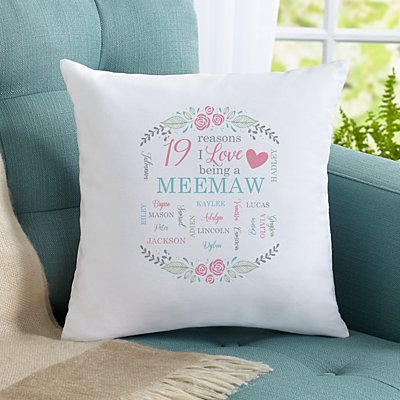 All The Ones I Love Throw Pillow