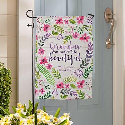 You Make Life Beautiful Garden Flag