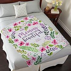 You Make Life Beautiful Plush Blanket
