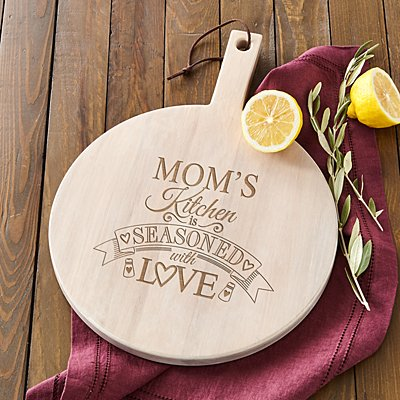 Seasoned with Love Round Wood Server