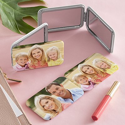 Picture Perfect Two Sided Photo Purse Mirror