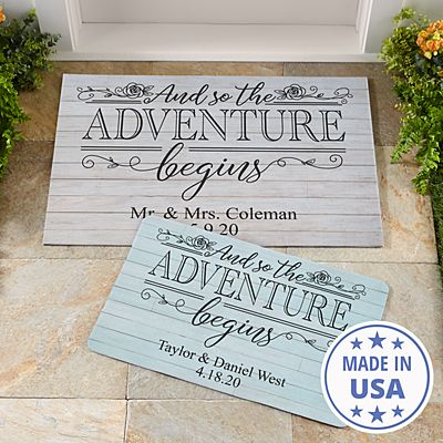Adventure Begins Doormat