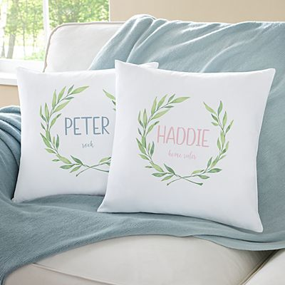 Baby Name Meaning Throw Pillow