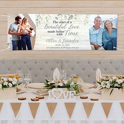 Beautiful Love Photo Anniversary Banner