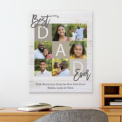 Best Dad Ever Photo Canvas