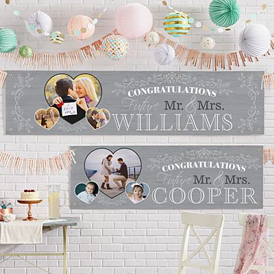 Congratulations Engagement Photo Banner