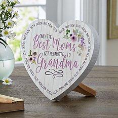 Best Mom Mini Wood Heart