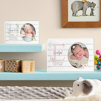 Elegant Baby Photo Glass Block