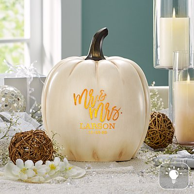 Festive Romance Light-Up XL Pumpkin