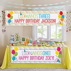 Look Who's... Birthday Banner