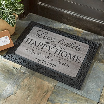 Love Builds a Happy Home Doormat