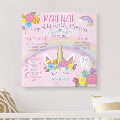 Magical Memories Birthday Canvas