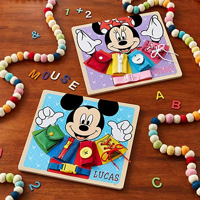 Melissa & Doug® Disney Wooden Basic Skills Board