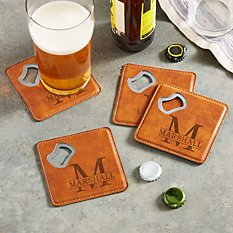 Name & Initial Bottle Opening Coasters