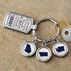 No Matter The Distance Key Chain