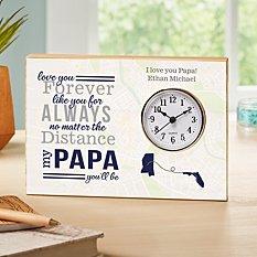 No Matter The Distance Wood Clock