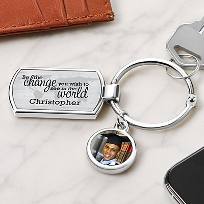 Change The World Photo Keyring