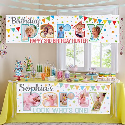 Photo Party Birthday Banner