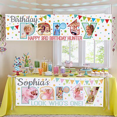Photo Party Birthday Banner