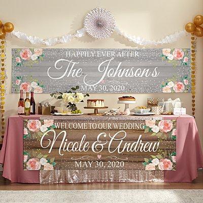 Rustic Floral Celebration Banner