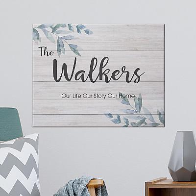 Simple & Elegant Family Name Canvas