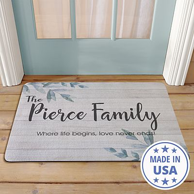 Simple & Elegant Family Name Doormat