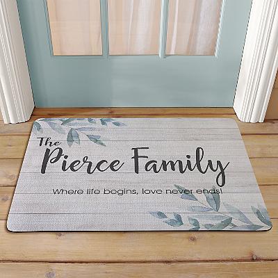 Simple & Elegant Family Name Doormat