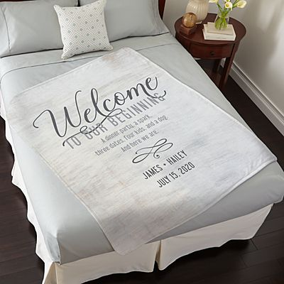 Welcome to Our Beginning Plush Blanket