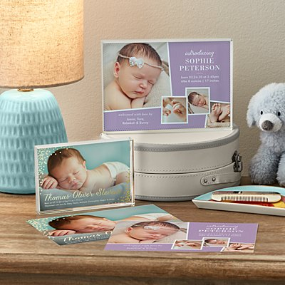 Birth Announcement  Photo Glass Block