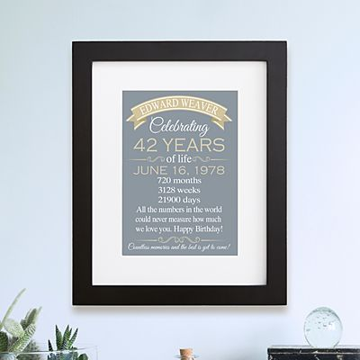 Birthday Of A Lifetime Framed Print