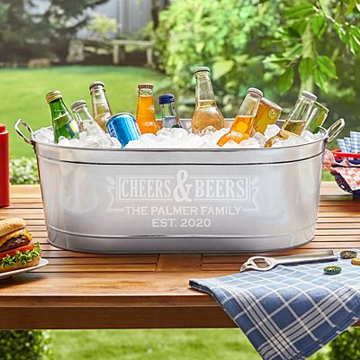 Cheers & Beers Beverage Tub