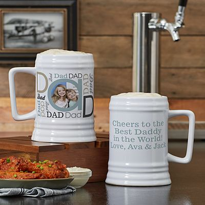 DAD Photo Message Beer Stein