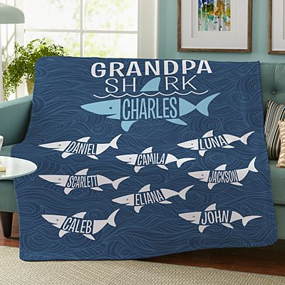 Daddy Shark Plush Blanket
