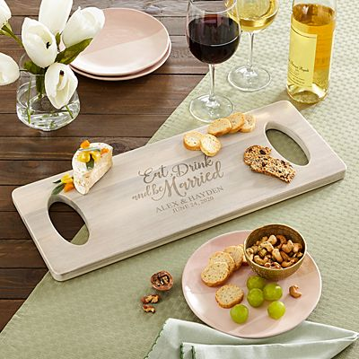 Eat, Drink & Be Married Wood Banquet Board