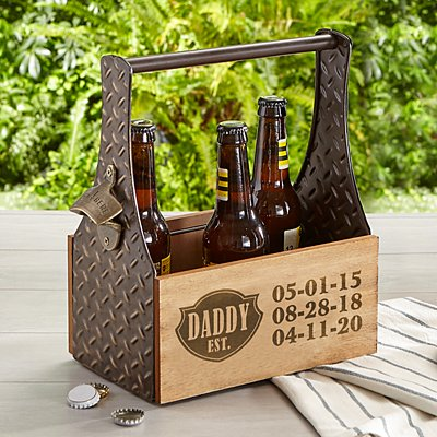 Established Wood Beer Caddy