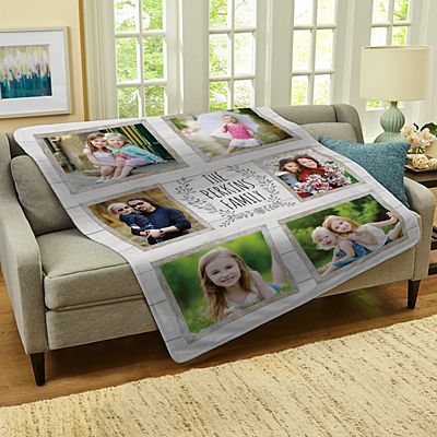 Family Is Everything Photo Plush Blanket