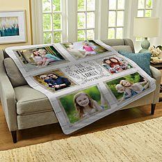 Family Is Everything Photo Plush Blanket