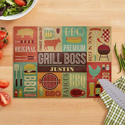 Grill Boss Glass Cutting Board
