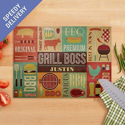 Grill Boss Glass Chopping Board