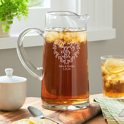 Happily Ever After Glass Pitcher