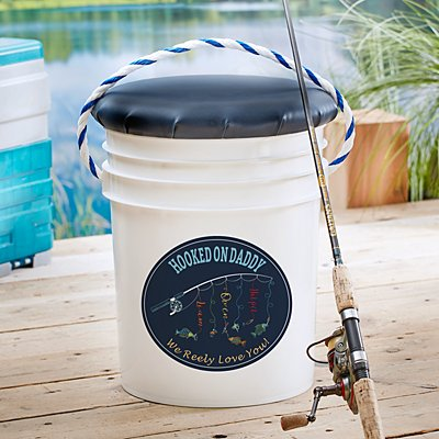 Hooked On You Fishing Pail