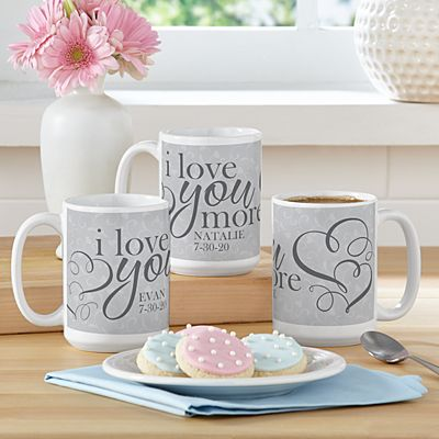 I Love You More Mug Set