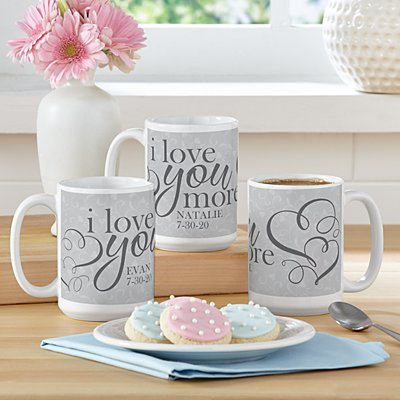 I Love You More 15oz Mug Set