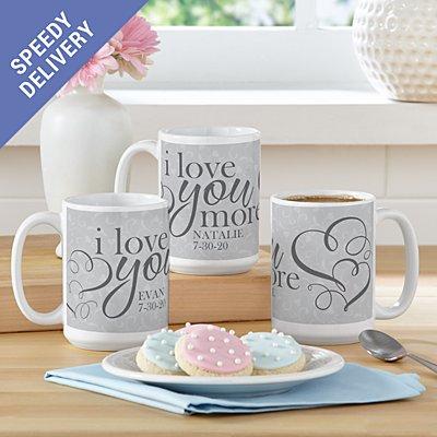 I Love You More Mug Set