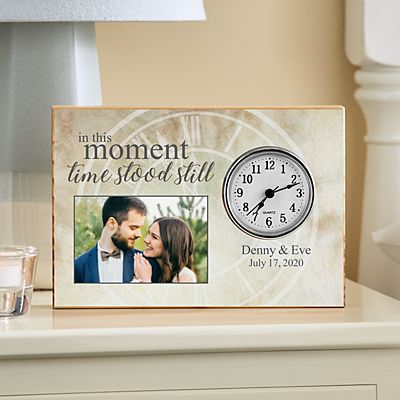 In This Moment Photo Wood Clock