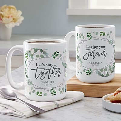 Let's Stay Together 15oz Mug Set