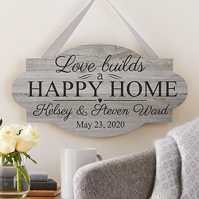 Love Leads You Home Wood Sign